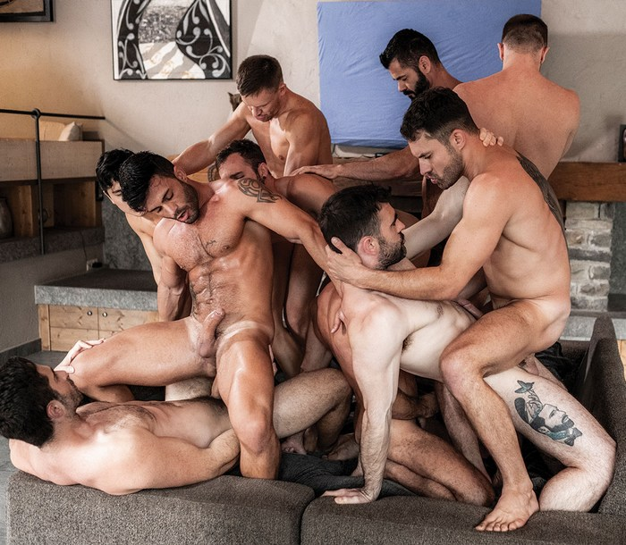 Gay porn star gets fucked 11 Gay Porn Stars Fuck Get Fucked In This Bareback Orgy